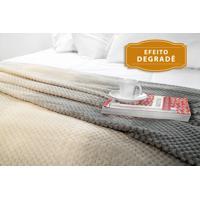 Manta Fleece Degradê Solteiro Mélodie 1,60 M X 2,40 M Com 1 Peça - Produto Importado Lepper Cinza