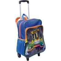 Mochilete Grande Com Bolso 2 Em 1 Hot Wheels 19M Plus Infantil Sestini - Masculino-Azul