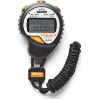 Cronômetro Profissional Vollo Vl-510 C/ 10 Memórias Alarme E Relógio Preto