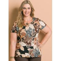 Blusa Marguerite Estampa Cashmere Plus Size