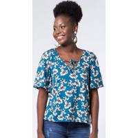 Blusa Buque Sombreado Azul Mercatto