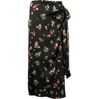 Andamane Wrap Style Skirt - Preto
