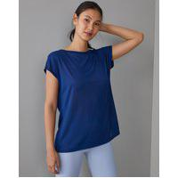 Amaro Feminino Camiseta Esportiva Transpasse Costas, Azul Marinho
