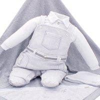 Saída De Maternidade Paraiso Malhas Tricô E Fio 30 Mescla
