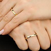 Aliança De Ouro Casamento Canto Quebrado E Diamantes - As0889 + As0890 Casa Das Alianças