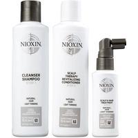 Kit Nioxin System 1 Shampoo 150Ml + Condicionador 150Ml + Leave-In 50Ml