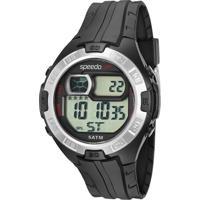 Kit De Relógio Digital Speedo Masculino + Carregador Portátil - 81097G0Evnp4K Preto