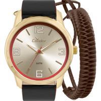Kit Relógio Condor Masculino Com Pulseira Co2035Kwv/K2D
