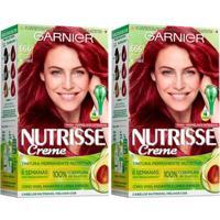Kit Garnier Nutrisse - Coloração 666 Pimenta Malagueta Kit - Unissex-Incolor