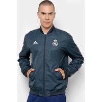 d3ac8ea32c8 Netshoes  Jaqueta Real Madrid Hino Adidas Masculina - Masculino