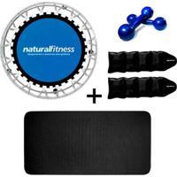 Mini Cama Elastica Jump Profissional Kit Ginastica Local Natural Fitness - Unissex