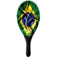 Raquete De Frescobol Evo Fibra De Vidro Brasil - Unissex
