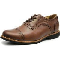 Sapato Oxford 3Ls3 Masculino - Masculino-Marrom+Preto
