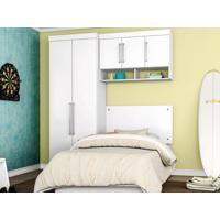 Dormitório De Solteiro 5 Portas Modena Branco - Lc Móveis