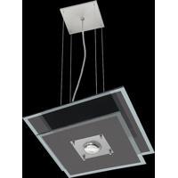 Pendente Saturno Aluminio E Vidro Lmq 132 Escovado Bivolt