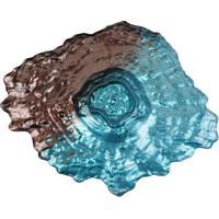 Centro De Mesa Deep Sea Em Relevo- Azul & Marrom- 10Full Fit