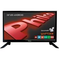 Smart Tv Android Led 28´´ Ph28N91Dsgwa Hd, Wifi, 2 Usb, 2 Hdmi Philco Bivolt