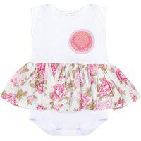 Body Padroeira Baby Floral Rosa