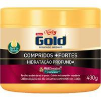 Niely Gold Compridos + Fortes - Máscara De Hidratação Profunda 430G - Unissex-Incolor