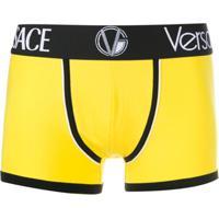 Versace Cueca Boxer Com Logo - Amarelo
