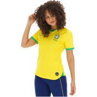 Camisa Da Seleção Brasileira I 2019 Nike - Torcedora - Feminina - Amarelo/Verde