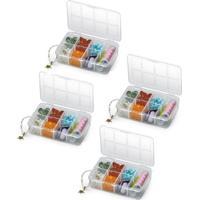 Kit 4 Caixas Mini Organizadoras Plástico 7 Compartimentos - Tricae