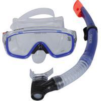 Kit De Mergulho: Snorkel E Máscara De Mergulho Oxer Argus - Adulto - Azul
