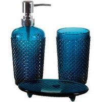 Jogo De Banheiro Amelie Azul 3 Peças