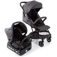 Carrinho Com Bebê Conforto Skill Trio Travel System Black Denim - Safety 1St