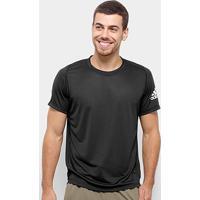 Camiseta Adidas Flspr X Ultimate Solid Masculina - Masculino-Preto