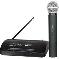 Microfone Karsect Duplo Kru200 + Maleta Preto