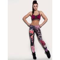 Legging Easy Careâ® Abstrata - Rosa Claro & Preta - Ssuper Hot