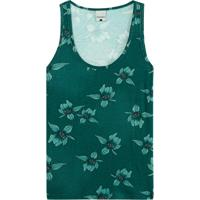 Blusa Verde Esmeralda Floral Em Viscose