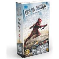 Quebra-Cabeça - 200 Peças - Dc Comics - Liga Da Justiça - The Flash - O Filme - Grow - Unissex-Incolor