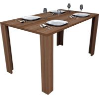 Conjunto Para Sala De Jantar Com 4 Lugares Bliv - Castanho