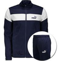 Agasalho Puma Clean Tricot Suit Masculino - Masculino-Azul