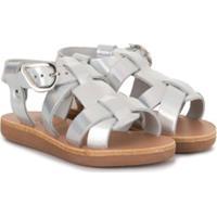 Ancient Greek Sandals Sandália Flat Metálica - Prateado