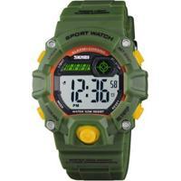 Relógio Infantil Skmei Digital Masculino - Masculino-Verde+Amarelo