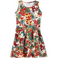 Vestido Infantil Estampa Tropical Marisa