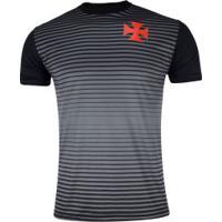 Camiseta Do Vasco Da Gama Curve 19 - Masculina - Cinza Escuro/Preto