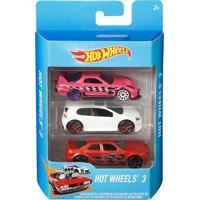 Pacote Com 3 Carrinhos Hot Wheels Sortidos - Mattel