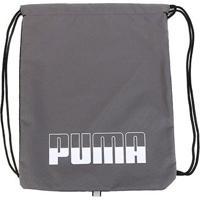 Sacola Puma Plus Gym Sack Ii - Unissex-Cinza+Preto