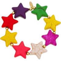Pulseira Piuka Quel Estrelas Howlita Folheado A Ouro 18K - Feminino