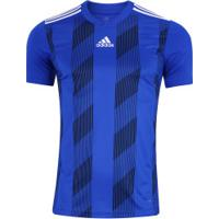 Camisa Adidas Striped 19 - Masculina - Azul/Branco