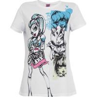 Blusa Malwee Monster High Branco