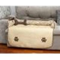 Protetor De Sofá Pet Cachorro Ou Gato Impermeável Bege Matelado Grande 96Cm X 88Xm X 15Cm + Almofada Ossinho