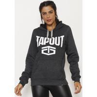 Blusão Tapout® - Cinza Escuro & Brancotapout