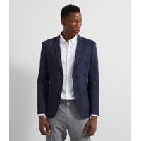 Blazer Traje Super Slim Em Malha | Preston Field | Azul | M