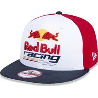 Boné New Era 950 Red Bull Racing Aba Reta Branco Vermelho 518cafda328