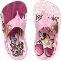 Sandália Barbie Infantil Para Bebê Menina - Rosa